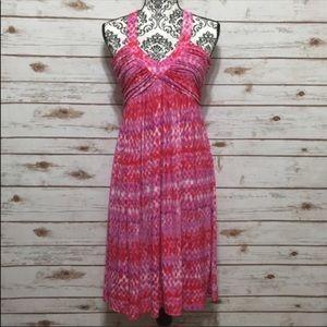 Calvin Klein Deep V Neck abstract dress